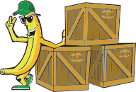 Banán s bednami
