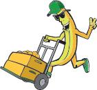 Banán s rudlem