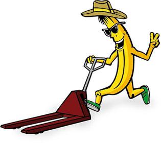 Banán s paleťákem